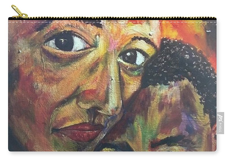 Mujer Carry-all Pouch featuring the painting La Mujer Fuerte by Che' La'Mora