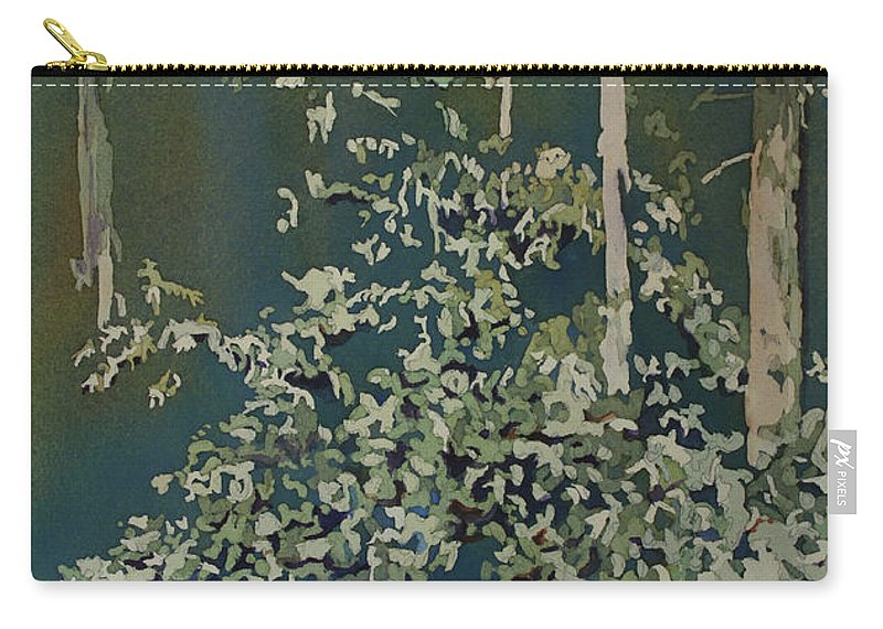 Forest Carry-all Pouch featuring the painting Lacy Edge by Jenny Armitage