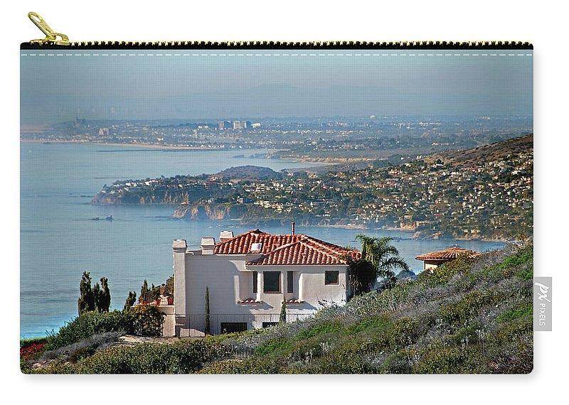 Laguna Beach Carry-all Pouch featuring the photograph Laguna Beach Hilltop Homes by Mitch Diamond