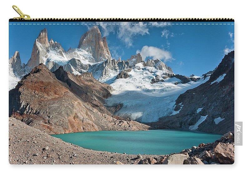 Scenics Carry-all Pouch featuring the photograph Laguna De Los Tres, El Chalten by Avinash Achar