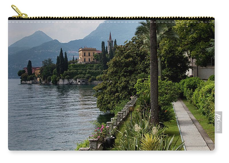 Scenics Carry-all Pouch featuring the photograph Lake Como, Varenna by Walter Bibikow