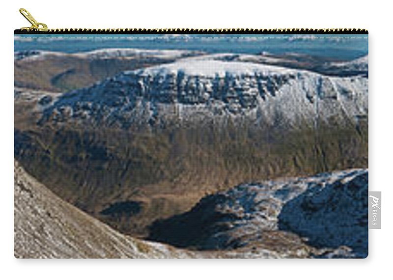Scenics Carry-all Pouch featuring the photograph Lake District Striding Edge Helvellyn by Fotovoyager