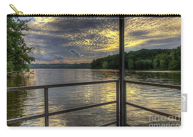 Hdr Carry-all Pouch featuring the photograph Lake Girardeau Conservation Area by Larry Braun