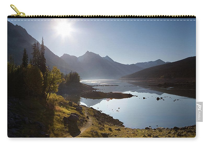 Clear Sky Carry-all Pouch featuring the photograph Lake Maligne - Jasper National Park by Ingmar Wesemann
