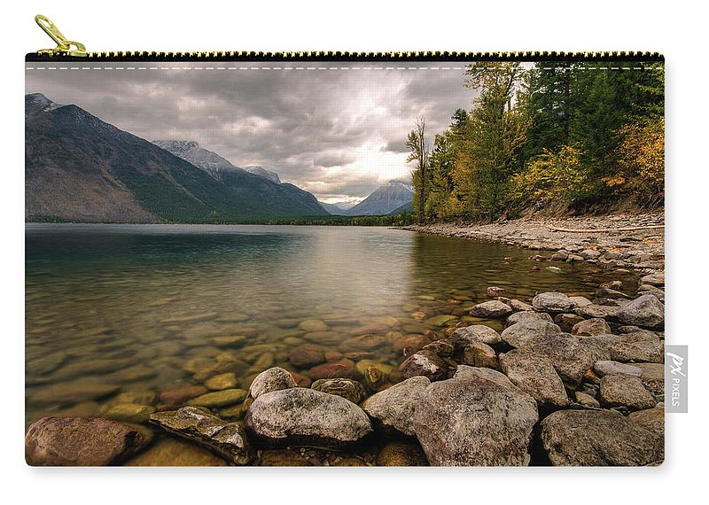 Water's Edge Carry-all Pouch featuring the photograph Lake Mcdonald by Mason Cummings