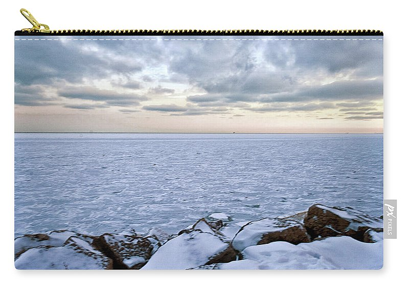 Tranquility Carry-all Pouch featuring the photograph Lake Michigan by By Ken Ilio