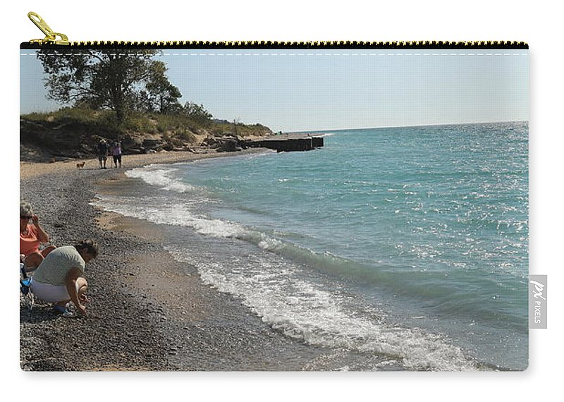 Lake Michigan Frankfort Carry-all Pouch featuring the photograph Lake Michigan Frankfort Mi by Melvin Busch