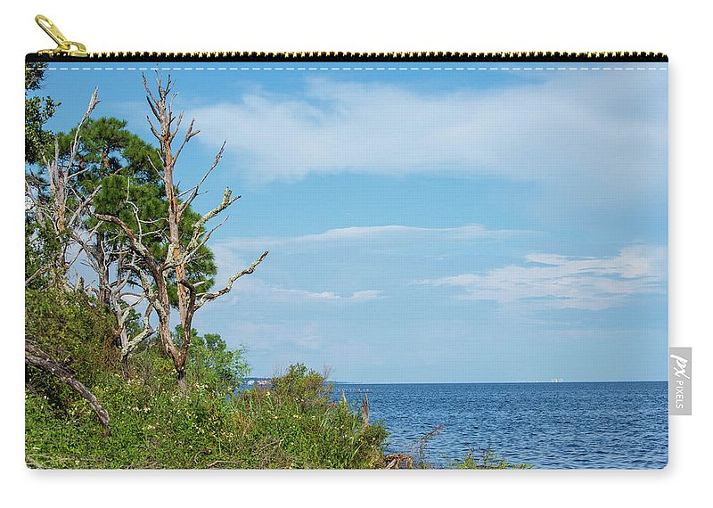 Landscape Carry-all Pouch featuring the photograph Landscape By The Sound by Robert Anderson