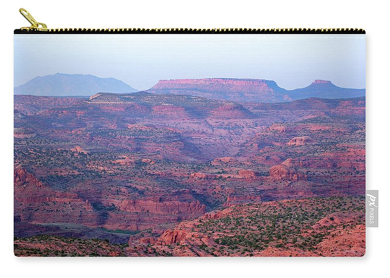 Scenics Carry-all Pouch featuring the photograph Landscape Sunset by Amygdala imagery