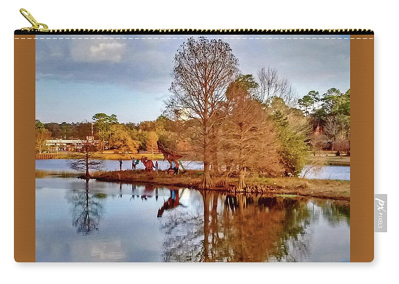 Park Carry-all Pouch featuring the photograph Langan Park Island Reflections by Marian Bell