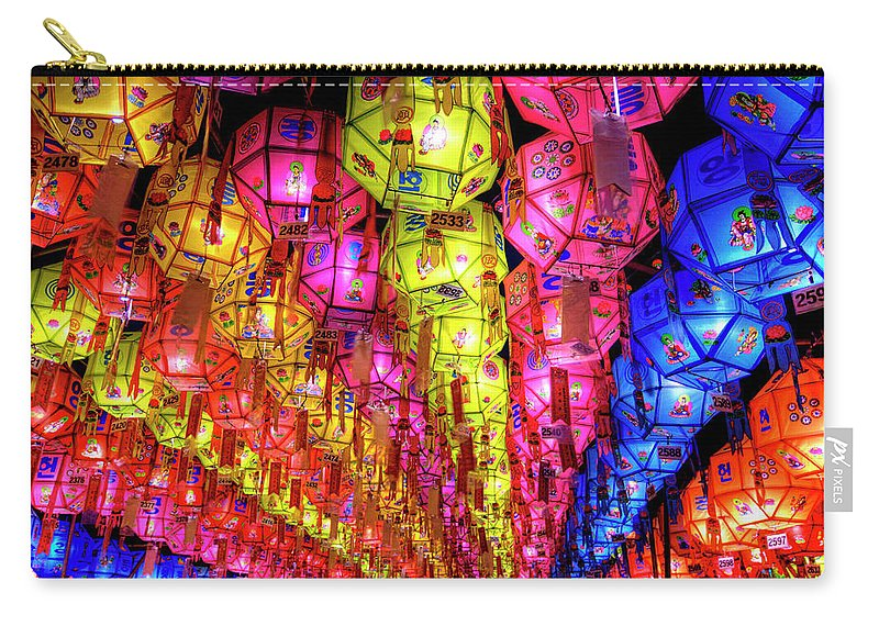 Tranquility Carry-all Pouch featuring the photograph Lanterns Hanging by Jason Teale Photography Www.jasonteale.com