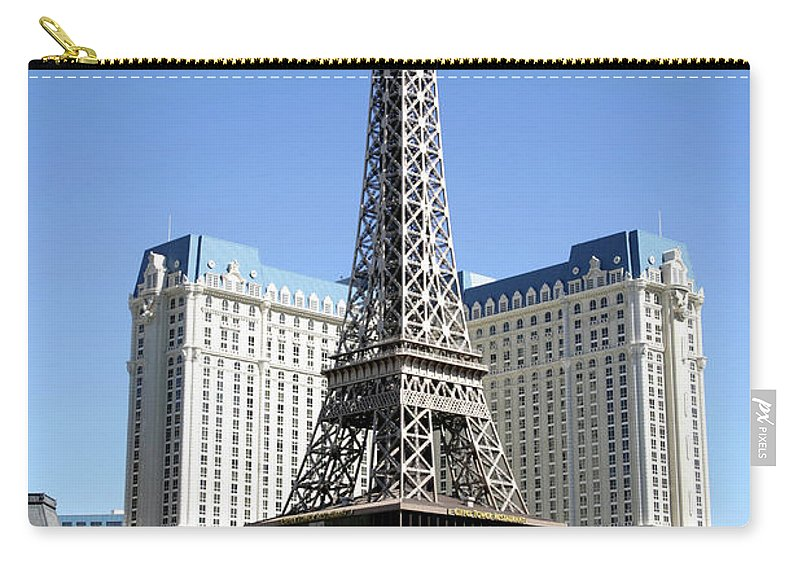Las Vegas Replica Eiffel Tower Carry-all Pouch featuring the photograph Las Vegas Strip, Paris Las Vegas And by Hisham Ibrahim