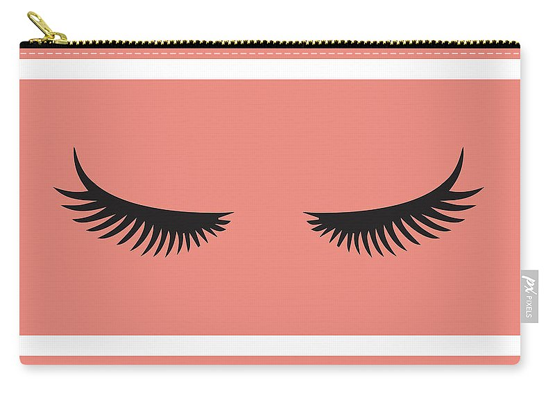 Eye Carry-all Pouch featuring the painting Lashes by Sd Graphics Studio