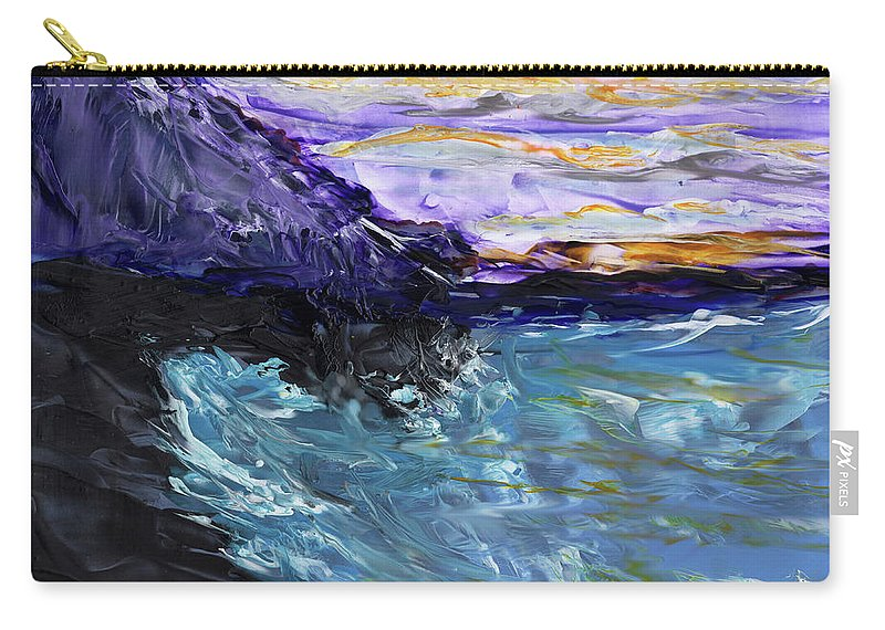 Seascape Carry-all Pouch featuring the painting Lava Cove by Diane Maley