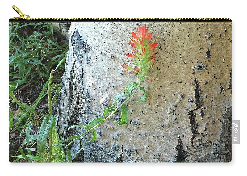Landscape Carry-all Pouch featuring the photograph Lean On Me by Clair Flatt