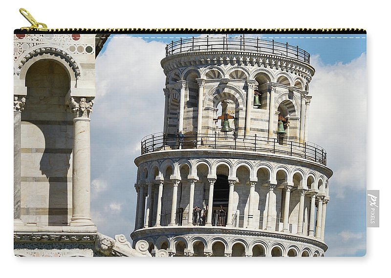 Italian Culture Carry-all Pouch featuring the photograph Leaning Tower Of Pisa, Tuscany, Italy by Miralex