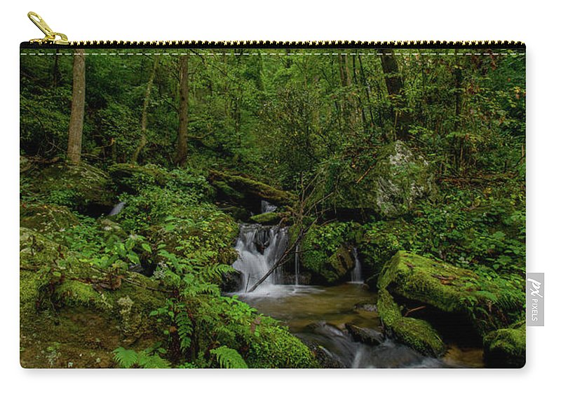 Lee Falls Carry-all Pouch featuring the photograph Lee Falls Cascades by Robert J Wagner