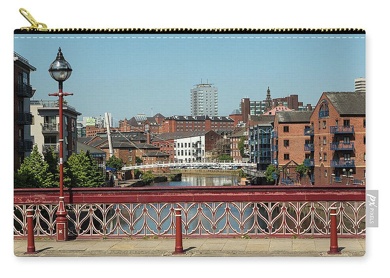 English Culture Carry-all Pouch featuring the photograph Leeds Waterfront Developments by P A Thompson
