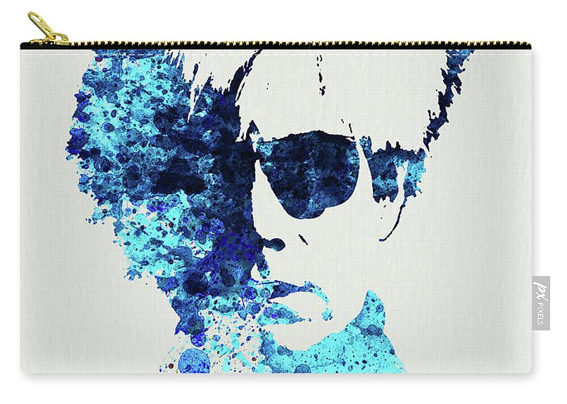 Andy Warhol Carry-all Pouch featuring the mixed media Legendary Andy Warhol Watercolor by Naxart Studio