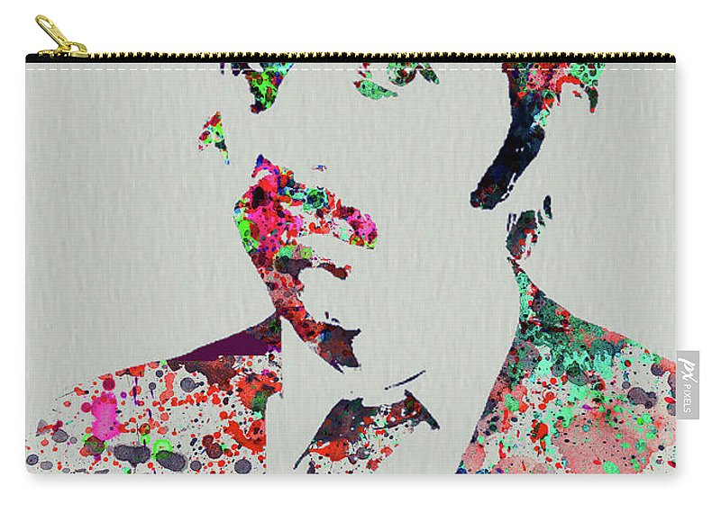 Beatles Carry-all Pouch featuring the mixed media Legendary George Harrison Watercolor III by Naxart Studio