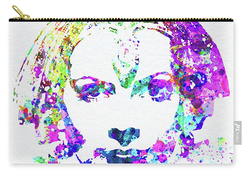 Greta Garbo Carry-all Pouch featuring the mixed media Legendary Greta Garbo Watercolor by Naxart Studio