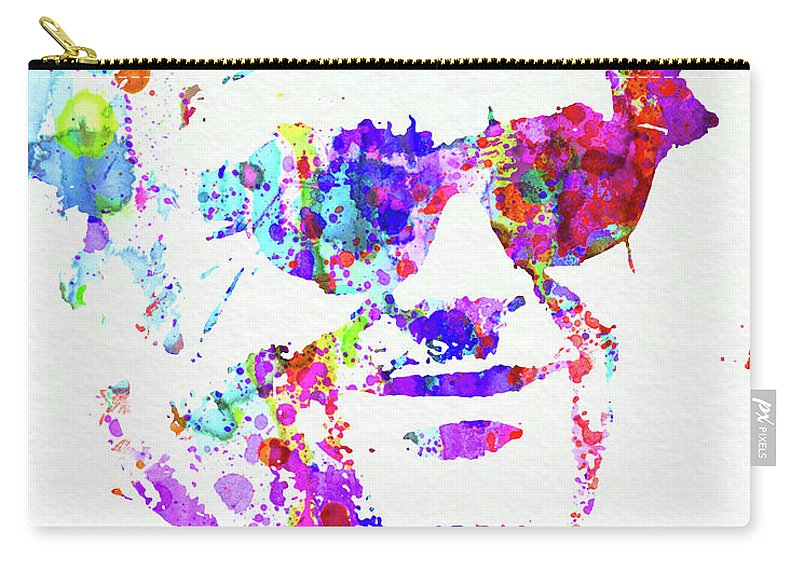 Jack Nicholson Carry-all Pouch featuring the mixed media Legendary Jack Watercolor by Naxart Studio