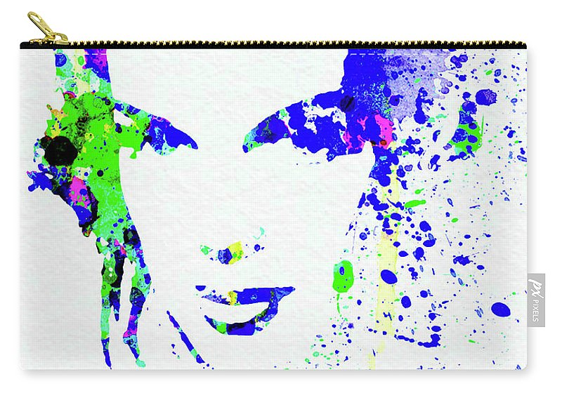 Judy Garland Carry-all Pouch featuring the mixed media Legendary Judy Garland Watercolor II by Naxart Studio