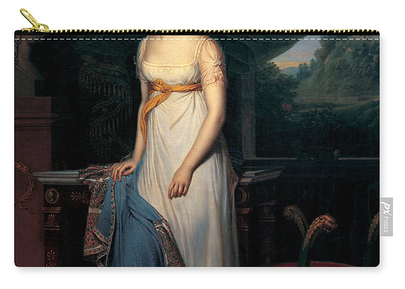 Rene Theodore Berthoud Carry-all Pouch featuring the painting Leopoldine Esterhazy    by Rene Theodore Berthoud