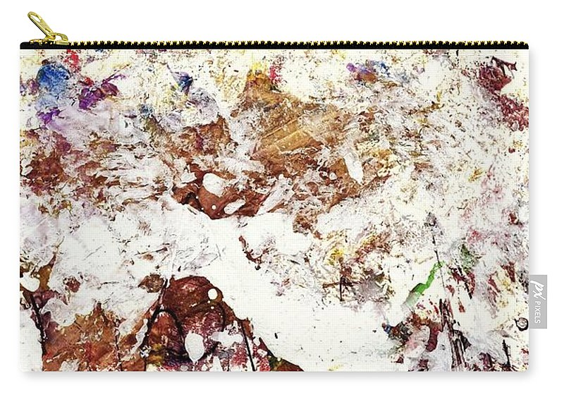 Abstract Carry-all Pouch featuring the painting Les Couleurs De L'amour by Dr Ernest Williamson III