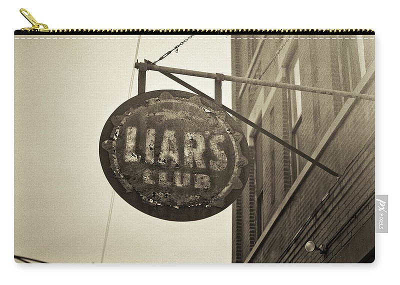 Nightclub Carry-all Pouch featuring the photograph Liars Club Chicago by T Scott Carlisle