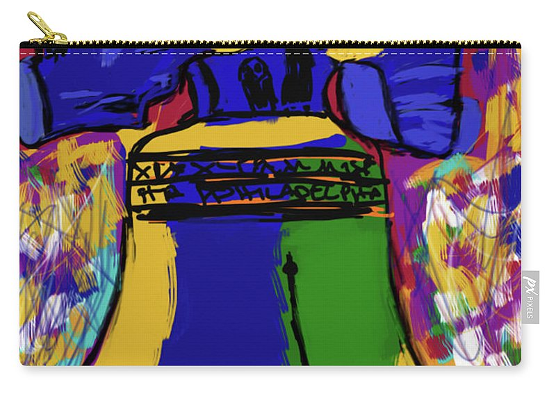 Carry-all Pouch featuring the digital art Liberty Bell by Will Lemon