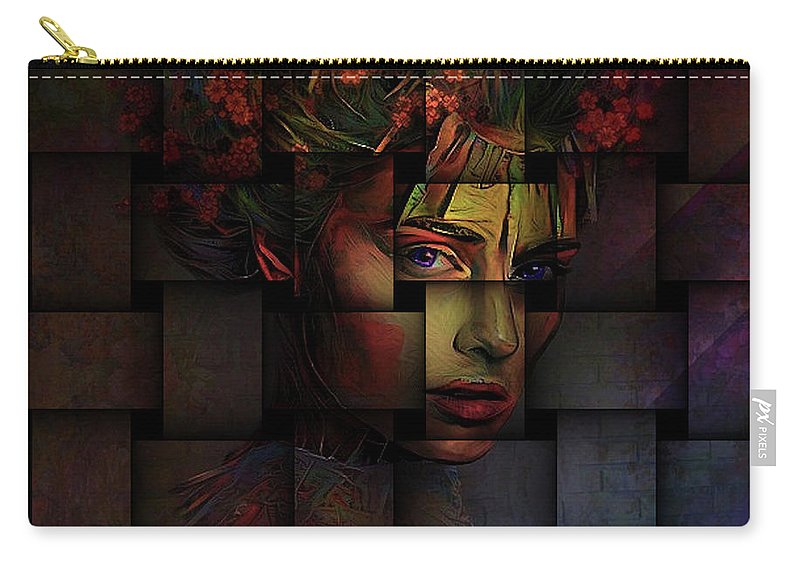 Weave Carry-all Pouch featuring the mixed media Life Is But A Weaving by G Berry