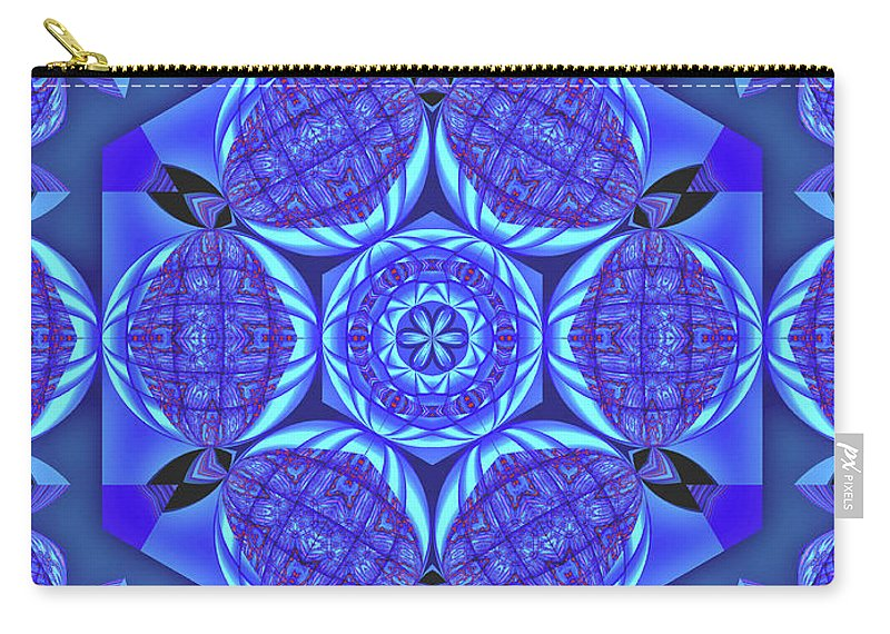 Blue Planet Carry-all Pouch featuring the digital art Life On A Blue Planet by Raven Deem