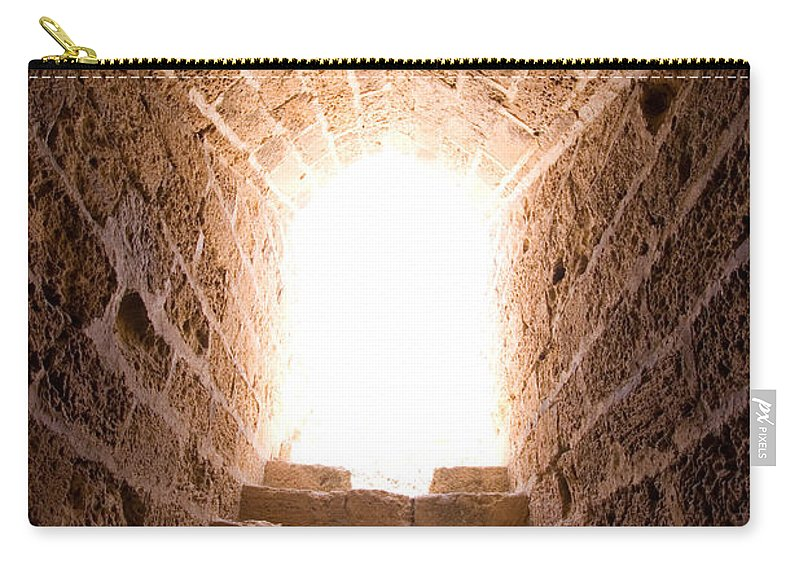 Steps Carry-all Pouch featuring the photograph Light At End Of The Tunnel by Kreicher