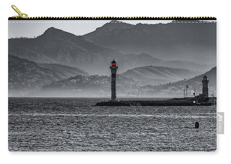 Alpes-maritimes Carry-all Pouch featuring the photograph Lighthouse by Peter Moderdovsky
