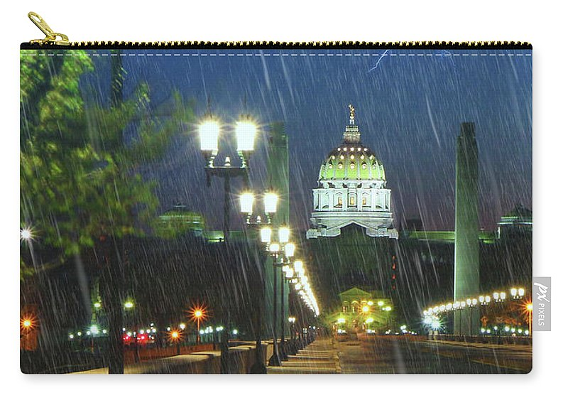 Harrisburg Carry-all Pouch featuring the photograph Lighting The Way by Geoff Crego
