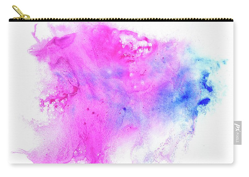Art Carry-all Pouch featuring the digital art Lilac Blot by Pobytov