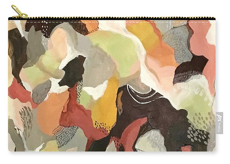 Abstractart Carry-all Pouch featuring the painting Living In Harmony by Suzzanna Frank