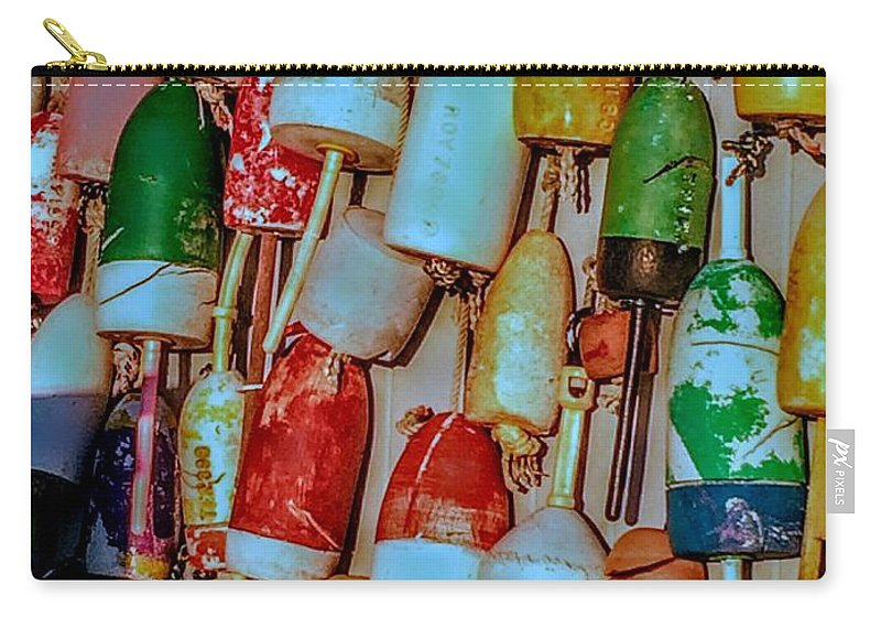 Lobster Carry-all Pouch featuring the photograph Lobster Buoys by Robert Lowe