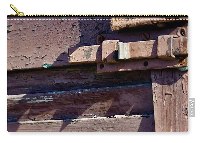 Abandoned Carry-all Pouch featuring the photograph Locked 2 by Dennis Knasel