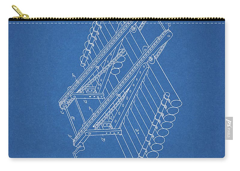Log Loader Patent Carry-all Pouch featuring the drawing Log Loader Patent by Dan Sproul