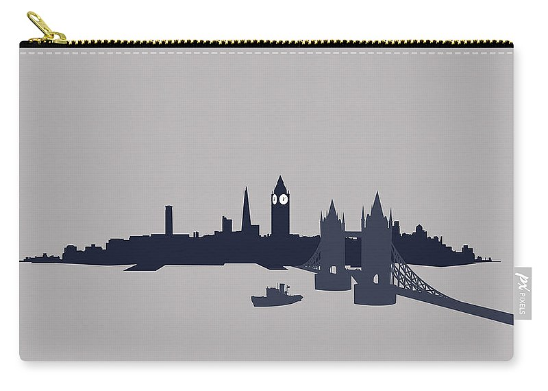 Part Of A Series Carry-all Pouch featuring the digital art London, Great Britain by Ralf Hiemisch