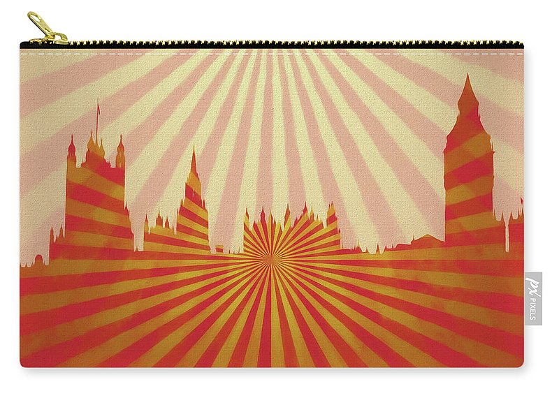 Carry-all Pouch featuring the mixed media London Pop Art by Dan Sproul
