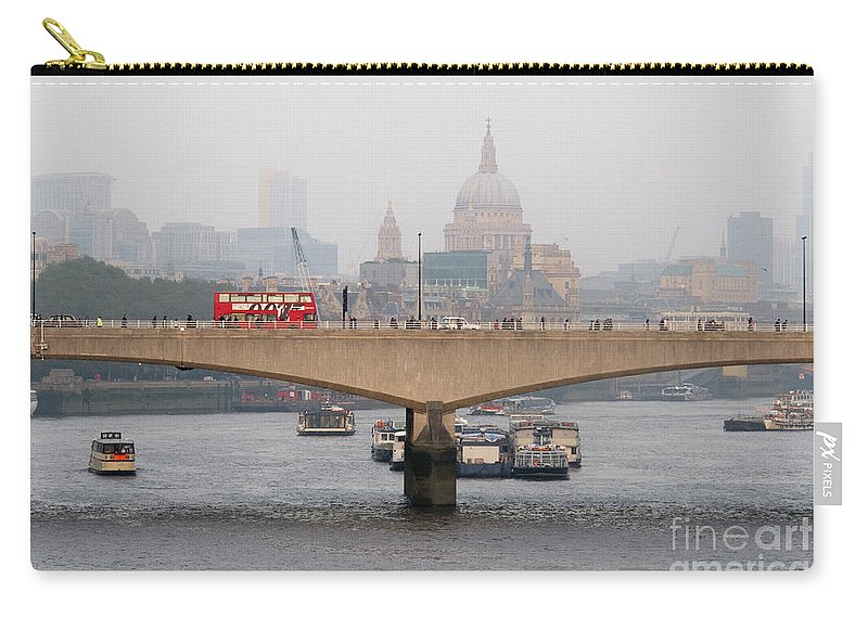 London Skyline Carry-all Pouch featuring the photograph London Skyline by Dora Berger