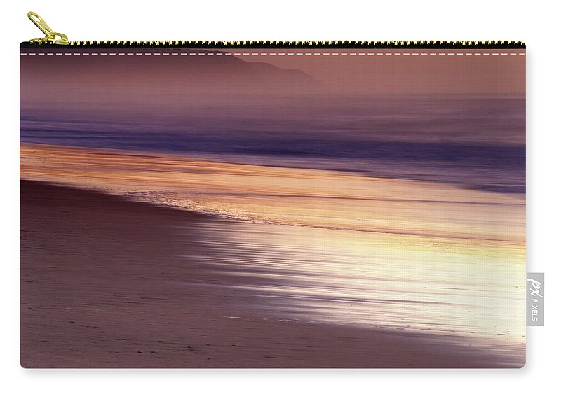 Tranquility Carry-all Pouch featuring the photograph Long Exposure Of Water At Dawn With by Emil Von Maltitz