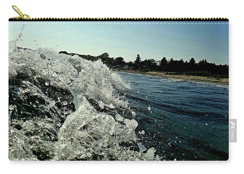 Uther Carry-all Pouch featuring the photograph Look Into The Wave by Uther Pendraggin