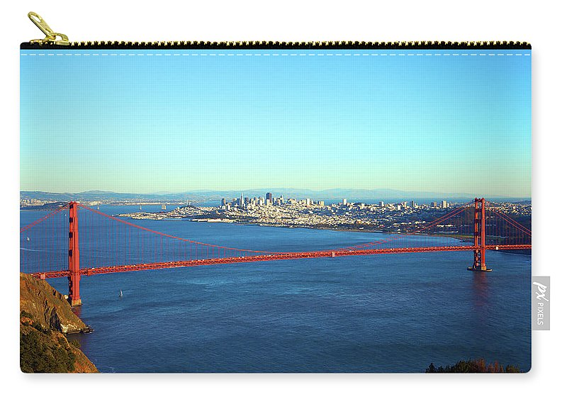 Downtown District Carry-all Pouch featuring the photograph Looking Down At The San Francisco Bridge by Ekash