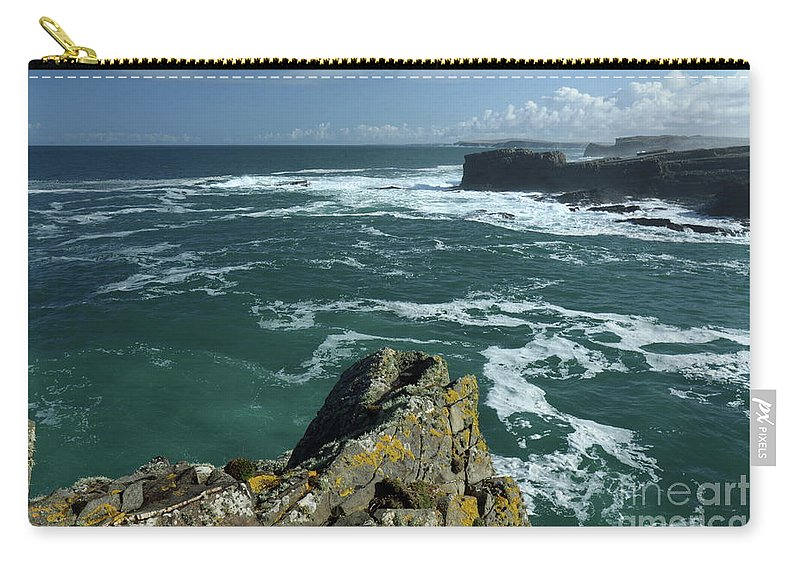Loop-head Peninsula Clare Ireland Wildatlanticway Photography Landscape Ocean Blue Green Sky Clouds Prints Canvas Tote-bags Carry-all Pouch featuring the photograph Loop Head Co Clare by Peter Skelton