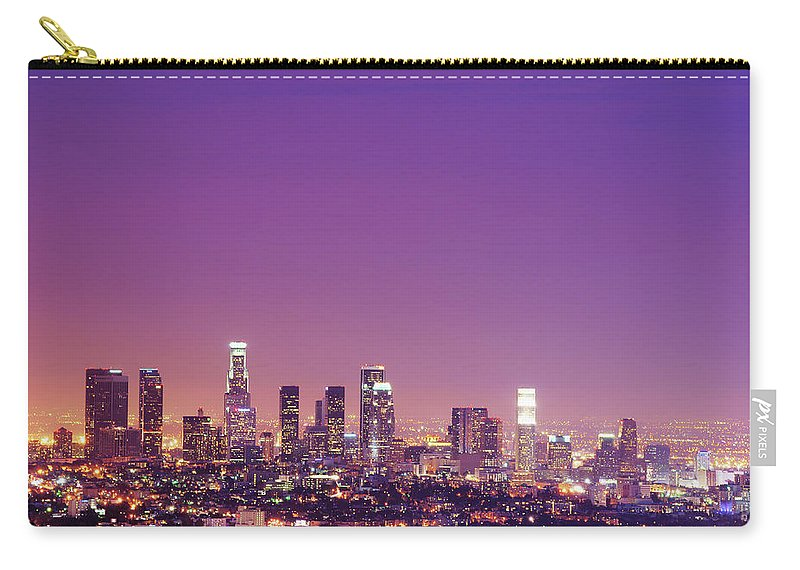 Clear Sky Carry-all Pouch featuring the photograph Los Angeles At Dusk by Dj Murdok Photos