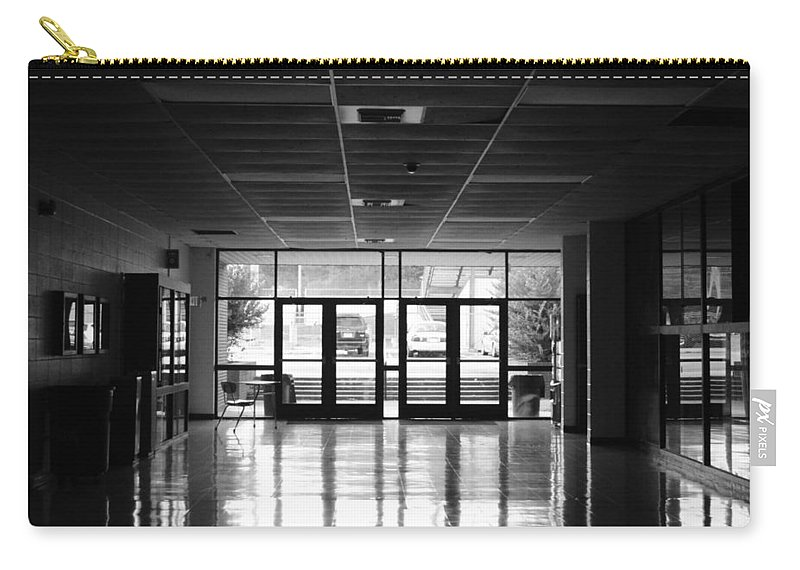 Black And White Carry-all Pouch featuring the photograph Lost by Jordan Barnes